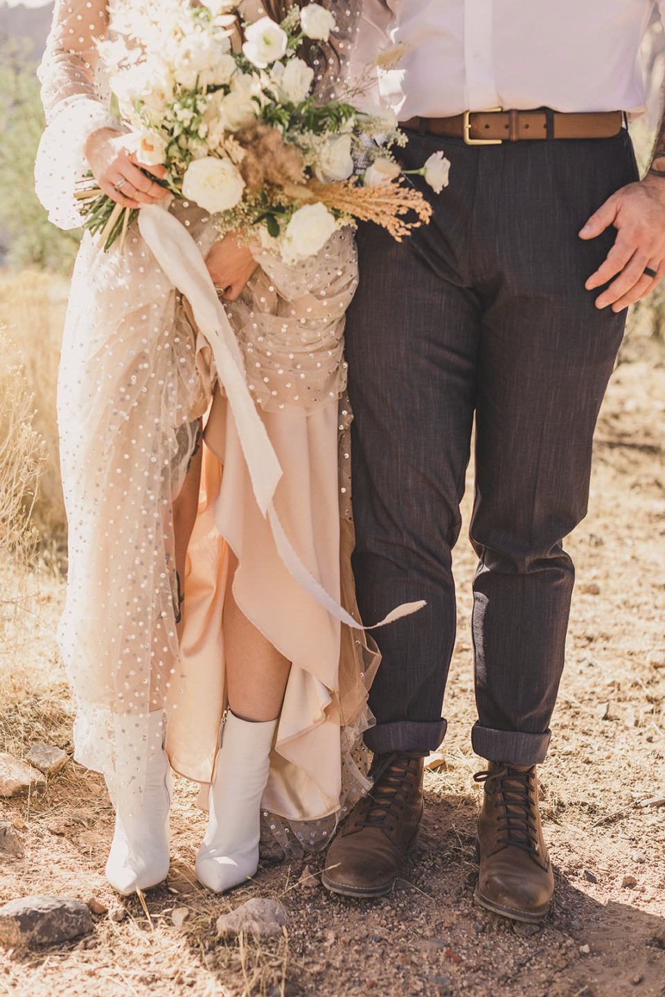 bride and groom's details for Spring Mountain Ranch Elopement