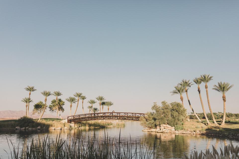 wedding portraits in gardens of Lake Las Vegas