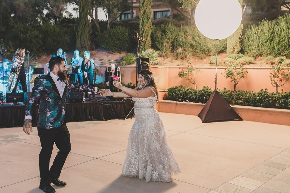 first dance at The Westin Lake Las Vegas wedding reception