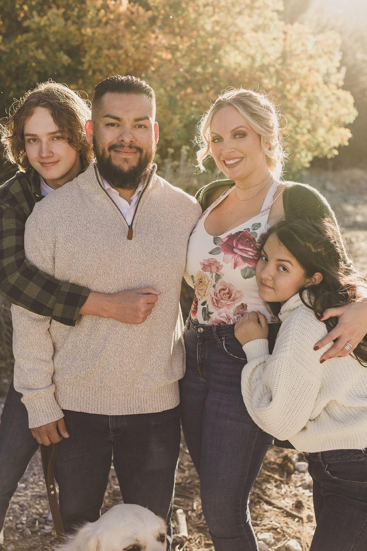 parents hug kids during Mt Charleston Family Portraits