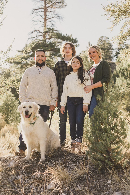 Mt Charleston Family Portraits with dog