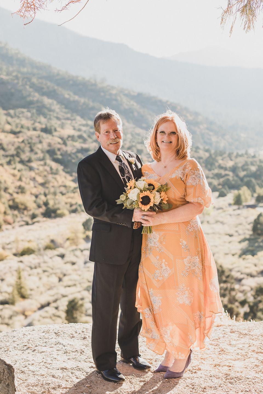 Mt Charleston Lodge Microwedding portraits of bride and groom