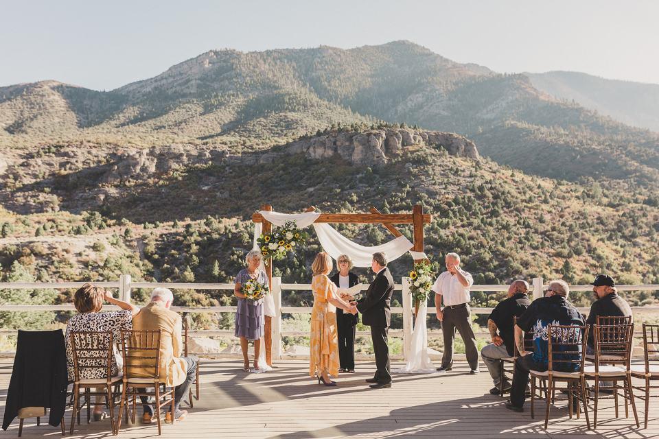 outdoor intimate wedding ceremony in Las Vegas