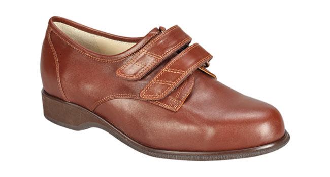 Ladies comfort Brown derby velcro