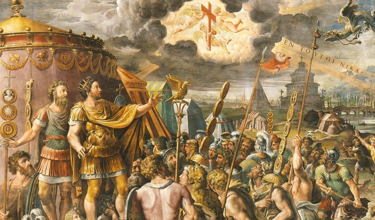 Image result for emperor constantine converts to christianity