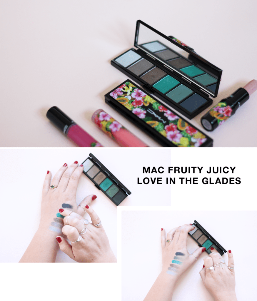 MAC Fruity Juicy Collection swatches - south africa - Love in the glades eyeshadow palette
