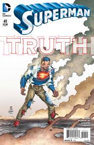 """Publisher: DC COMICS (W) Gene Luen Yang (A/CA) John Romita, Klaus Janson The epic new storyline """"TRUTH"""" continues with the debut of the amazing new creative team of new writer Gene Luen Yang (American Born Chinese) and continuing artists John Romita Jr. and Klaus Janson! What will happen when the big secret is revealed? Item Code: APR150252"""