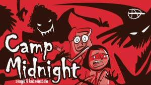 "From Man of Action's Steven T. Seagle and The New Yorker artist Jason Adam Katzenstein comes CAMP MIDNIGHT, an original 256-page graphic novel set to hit stores in early October 2015, just in time for Halloween reading. Reluctant camper Skye is accidentally sent to the wrong camp for the summer. Not wanting to please her ""step monster,"" Skye is dead-set on not fitting in. Luckily, that won't be a problem, as everyone at Camp Midnight—with the exception of fellow camper and fast-friend Mia—seems to be a full-fledged monster. ""Camp Midnight is a brilliant graphic novel debut for cartoonist Jason Adam Katzenstein, and it's the perfect book for readers who loved Raina Telgemeier's Smile, but wished it had more bowls of gooey eyeballs during the dinner scenes,"" said Seagle. Can Skye keep her identity as a human secret until she catches the bus for home? Is all of this a figment of her overactive imagination? And what about Skye's major crush on a boy who is far, really far, from her usual type? Find out in CAMP MIDNIGHT."