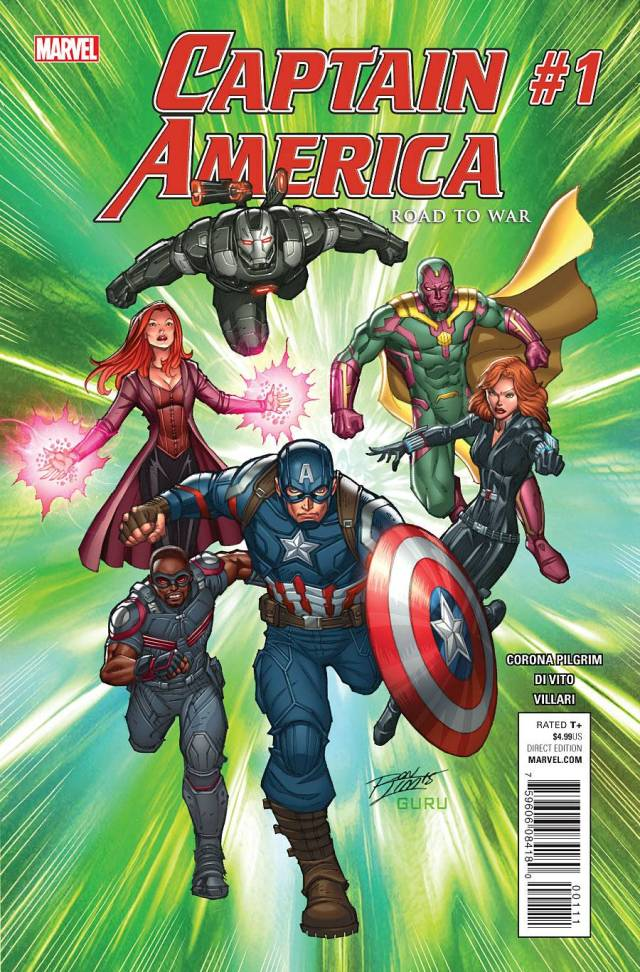 CAPTAIN AMERICA ROAD TO WAR cover