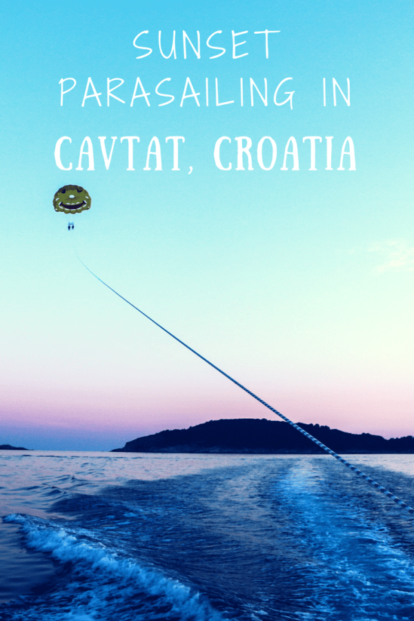 parasailing in cavtat