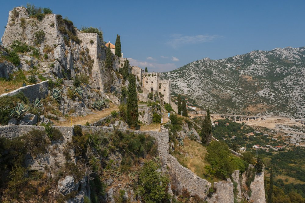 Klis fortress outside of Split Croatia