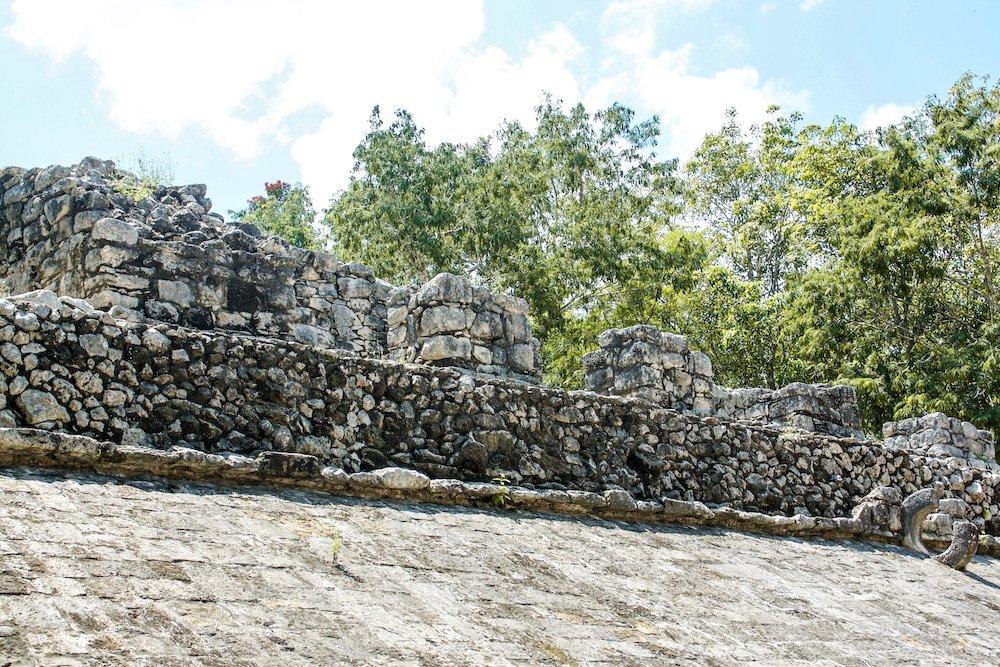 Building at coba ruins in quintana roo, mexico