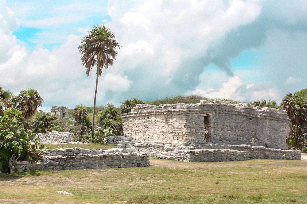 Photo of stone building a the Tulum Ruins in Mexico