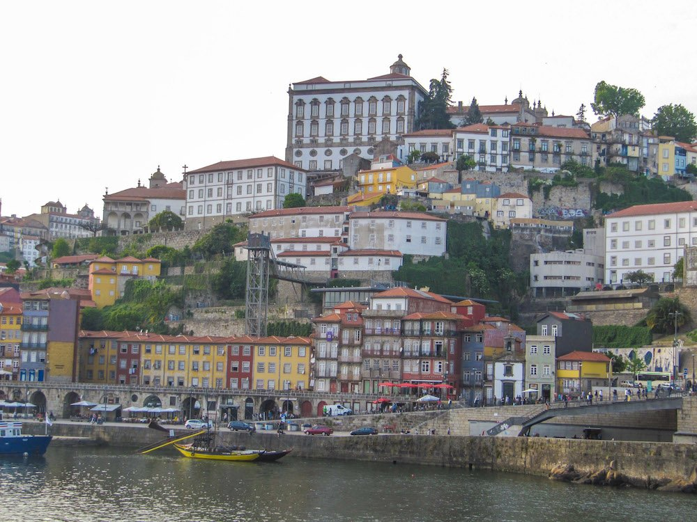 A view of Porto, Portugal from across the water