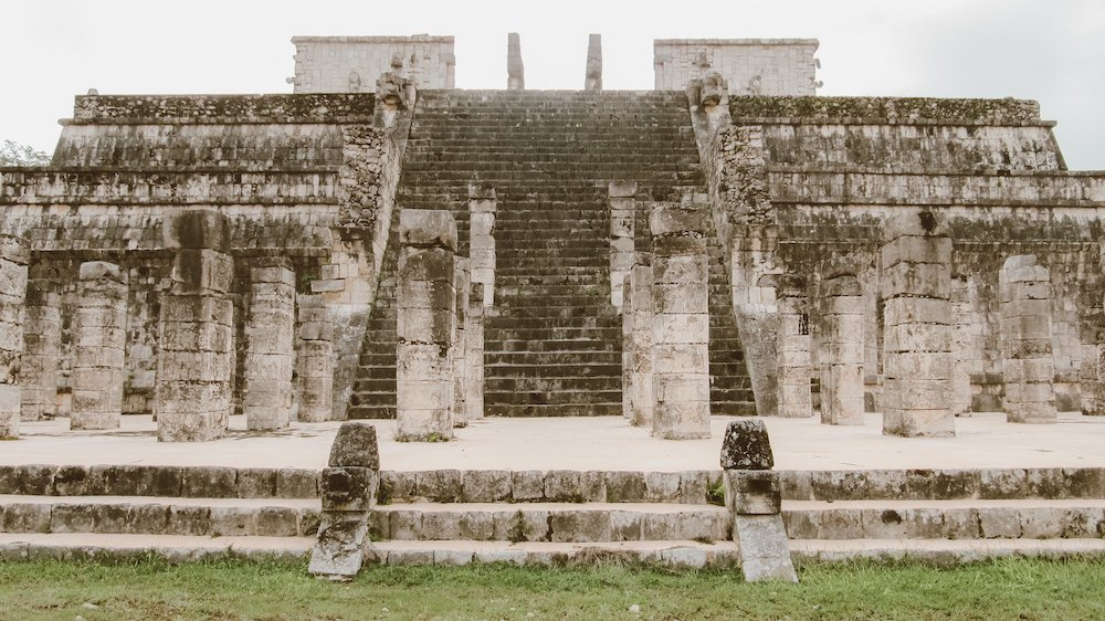 An ancient building at the site of Chichen Itza, Mexico