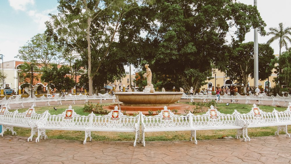 Plaza Central in Valladolid Mexico