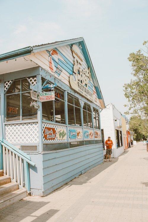 The outer facade of Beach Boy restaurant in Gimli, Manitoba