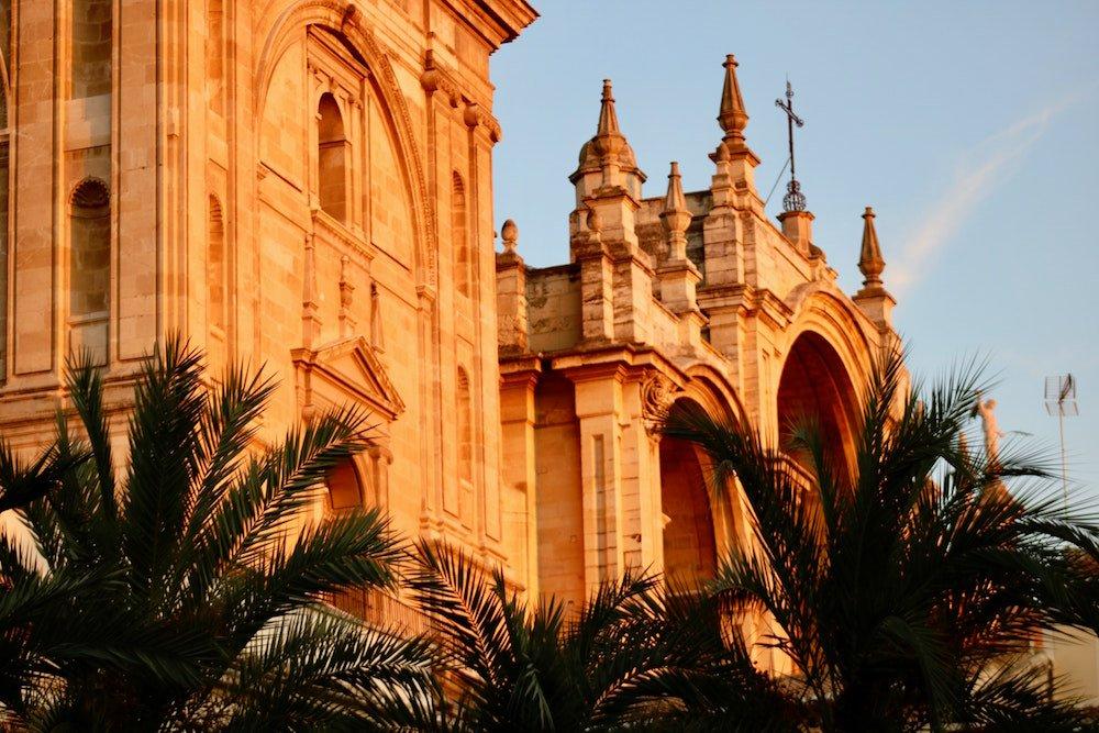 Royal Chapel of Granada Spain at sunset