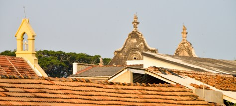 galle fort church tops
