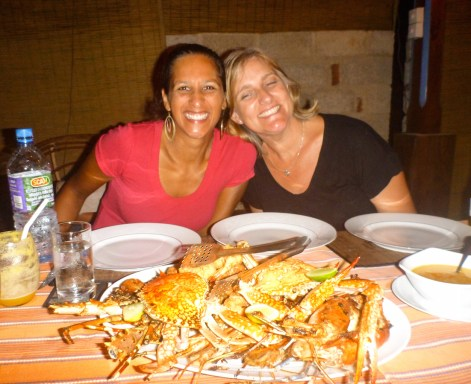 Seafood platter with Sonya at Mirissa