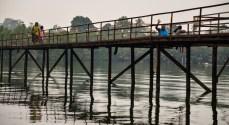 Bridge and locals