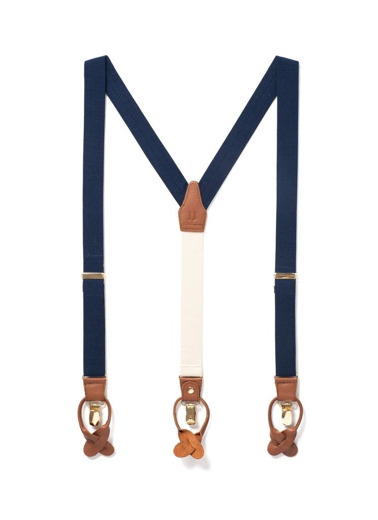 Classic Suspenders | Navy Tides Design | Navy
