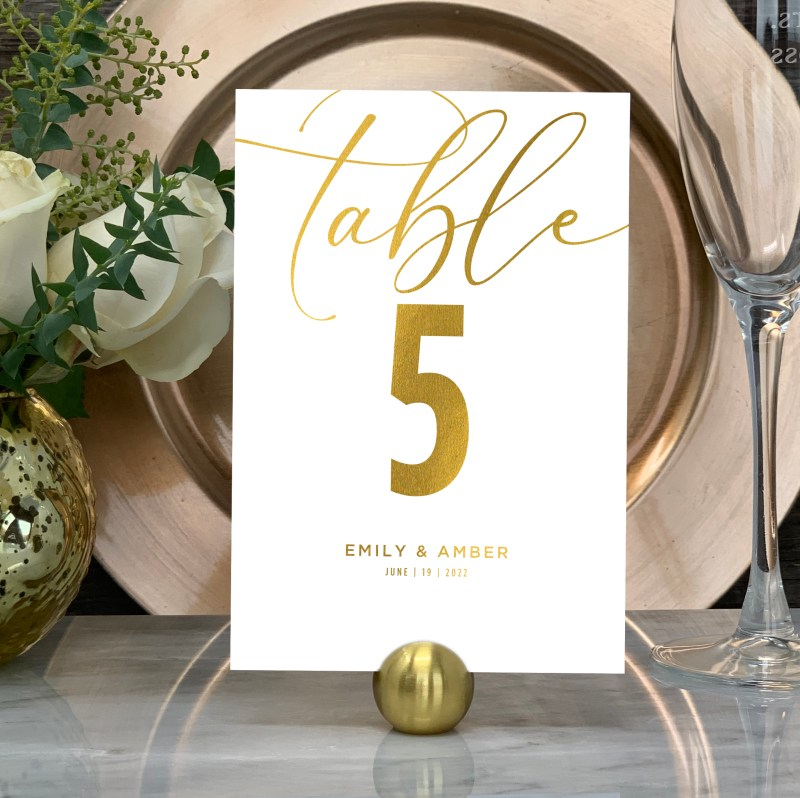 Elegant Design Table Numbers