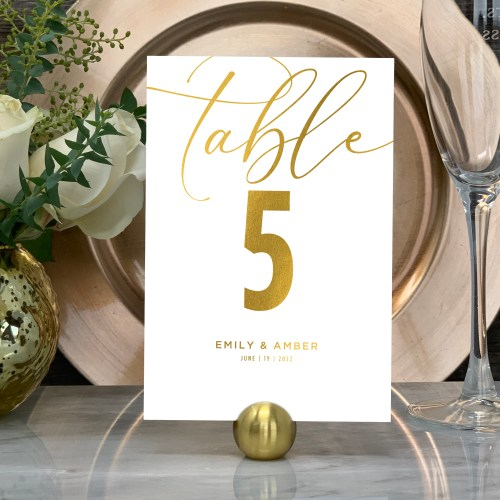 Elegant Design Table Numbers