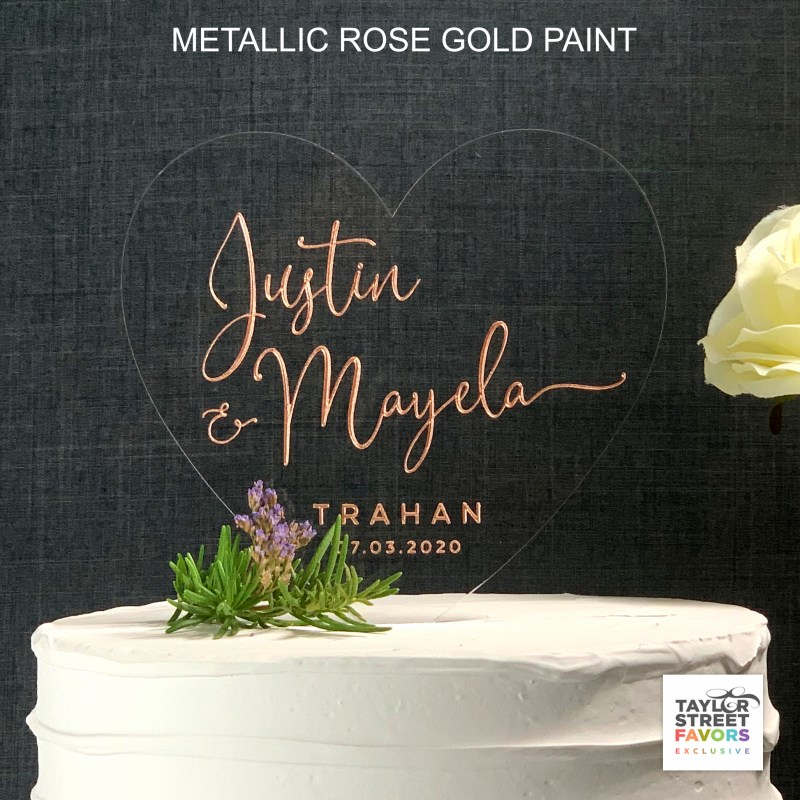 Metallic Rose Gold paint