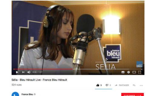 Sélia sur France Bleu Hérault