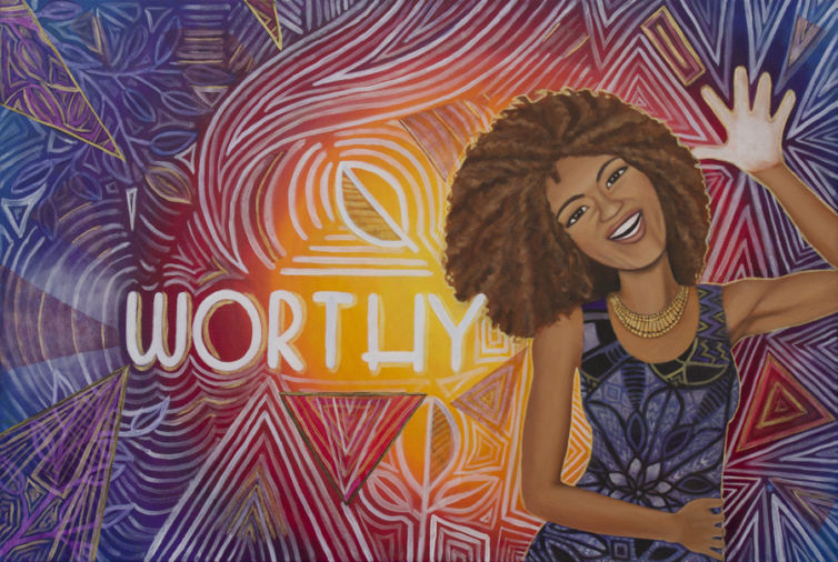 You Are Worthy Painting