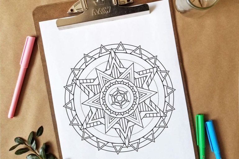 Free Adult Coloring Page - Print, Color and Relax!