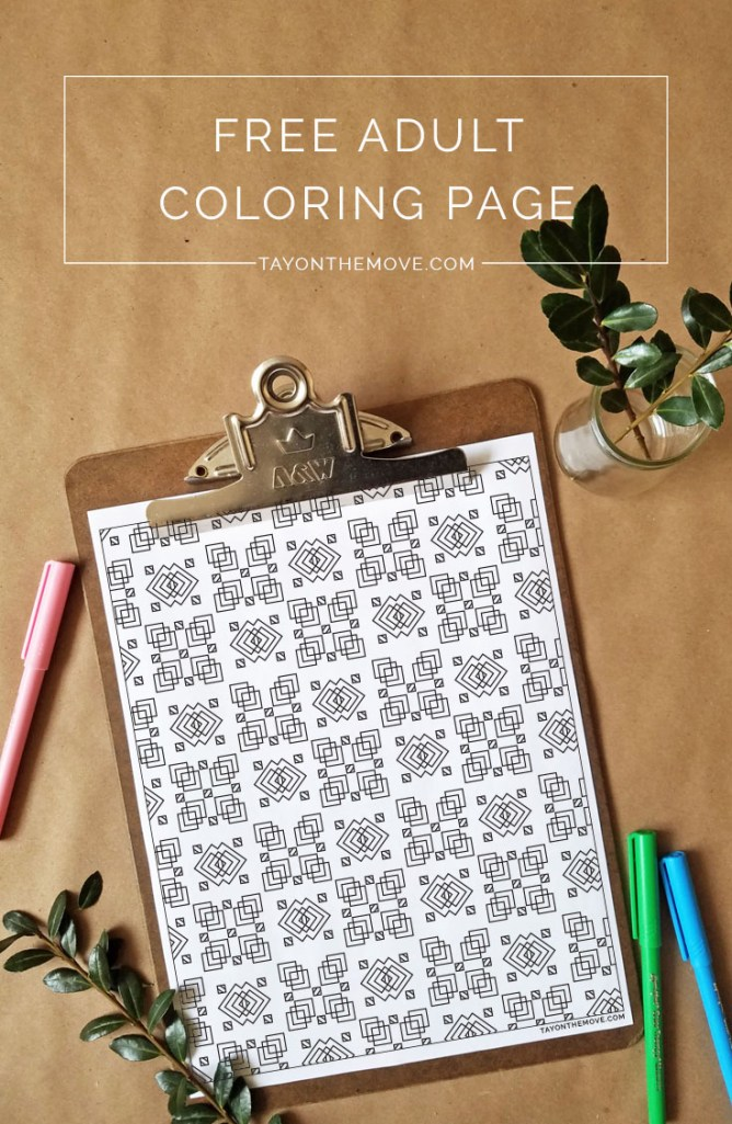 Free Coloring Page - Pattern Coloring