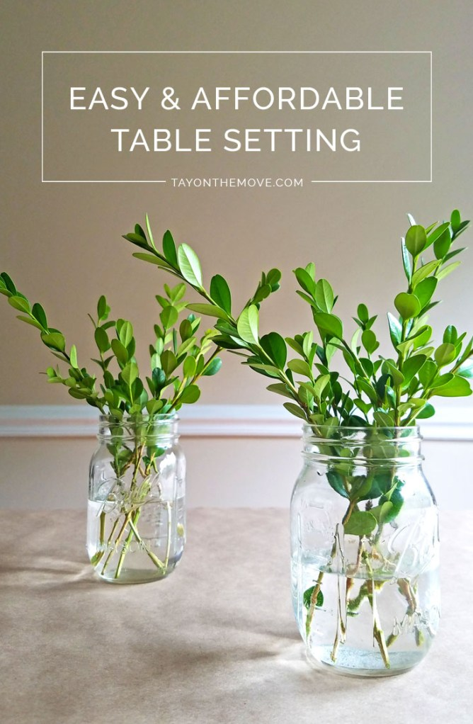 Easy & Affordable Table Setting