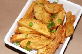 Perfeclty crispy seasoned French fries