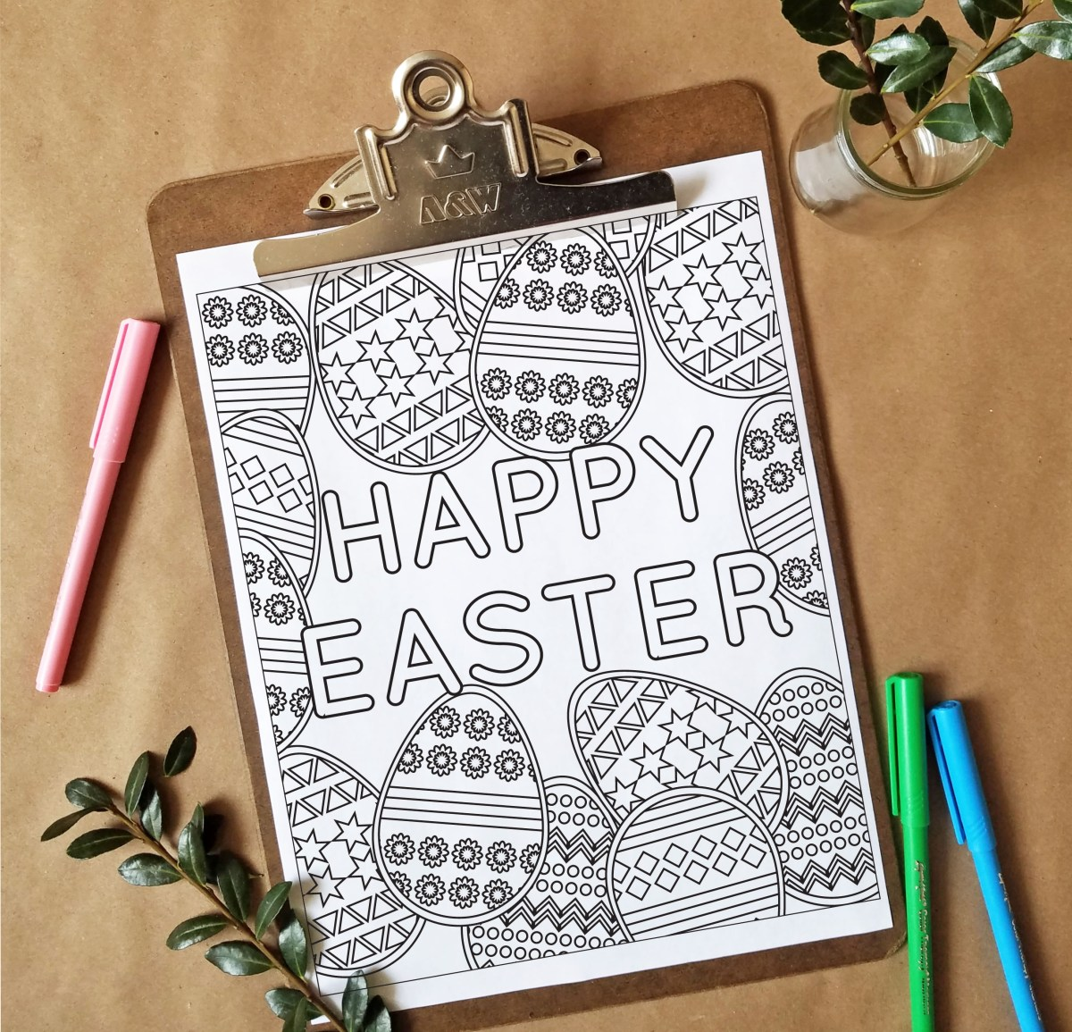 FREEbie Friday - Coloring Page 8 (Easter Inspired)