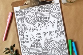 Free Coloring Page 8 - Easter Inspired