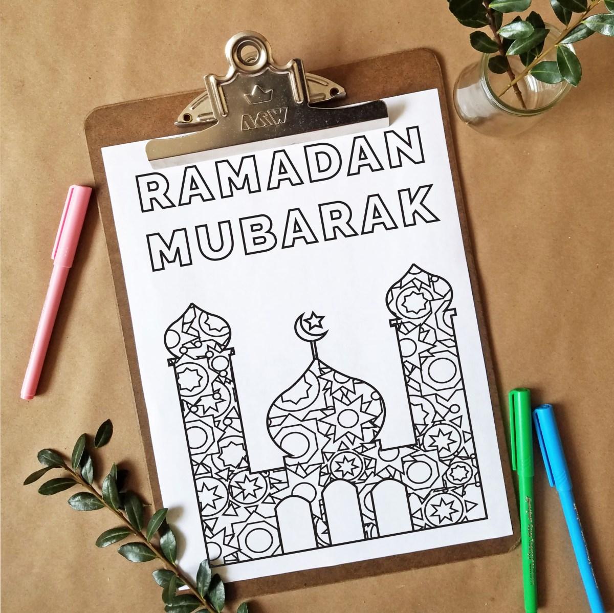 FREEbie Friday – Ramadan Inspired Coloring Page