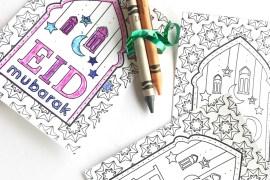 DIY Eid Coloring Favors