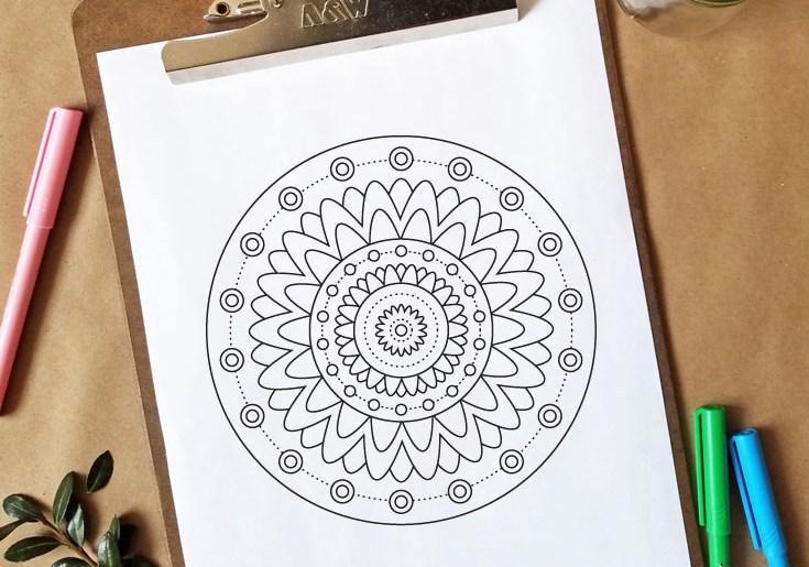 Free Coloring Page - Mandala Design