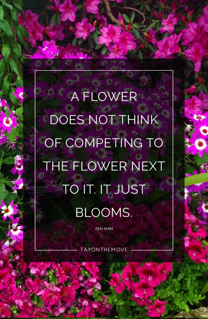 A flower does not