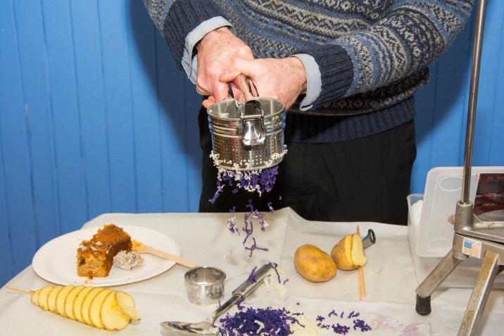 A photo of John Marshall rising purple tatties