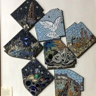 A photo of Mosaic art at the Bield