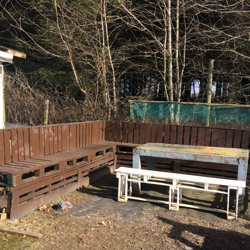 A photo of Upcycled pallet furniture at Bield smallholding