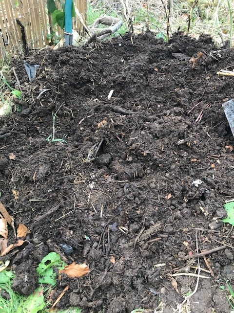 Composted over the winter!