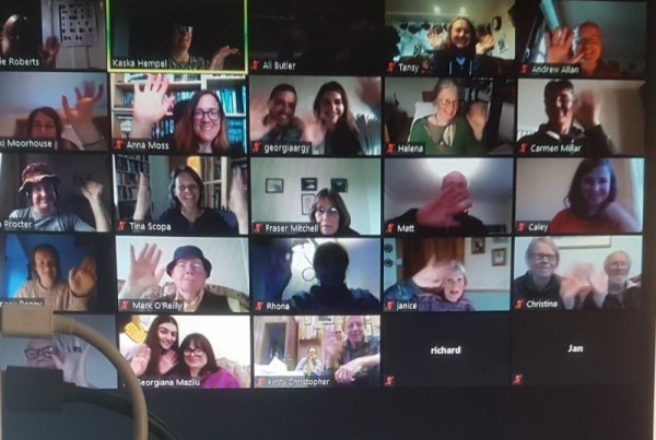 A photo of a group 2040 discussion on zoom