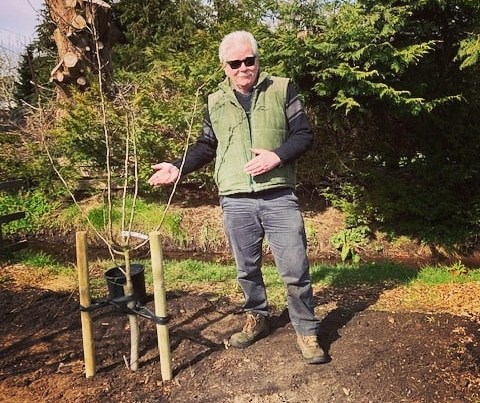 Mark at the Community Forest Food Garden