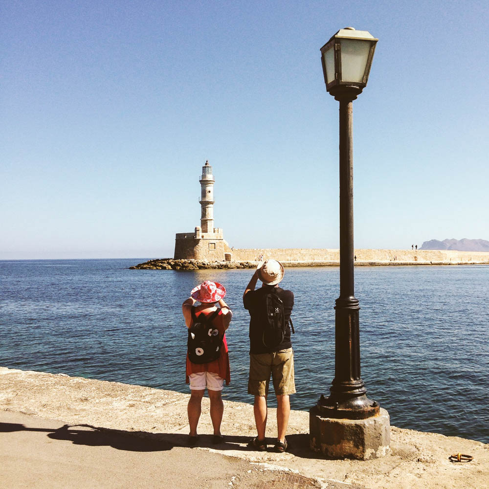 Leuchtturmtouristen