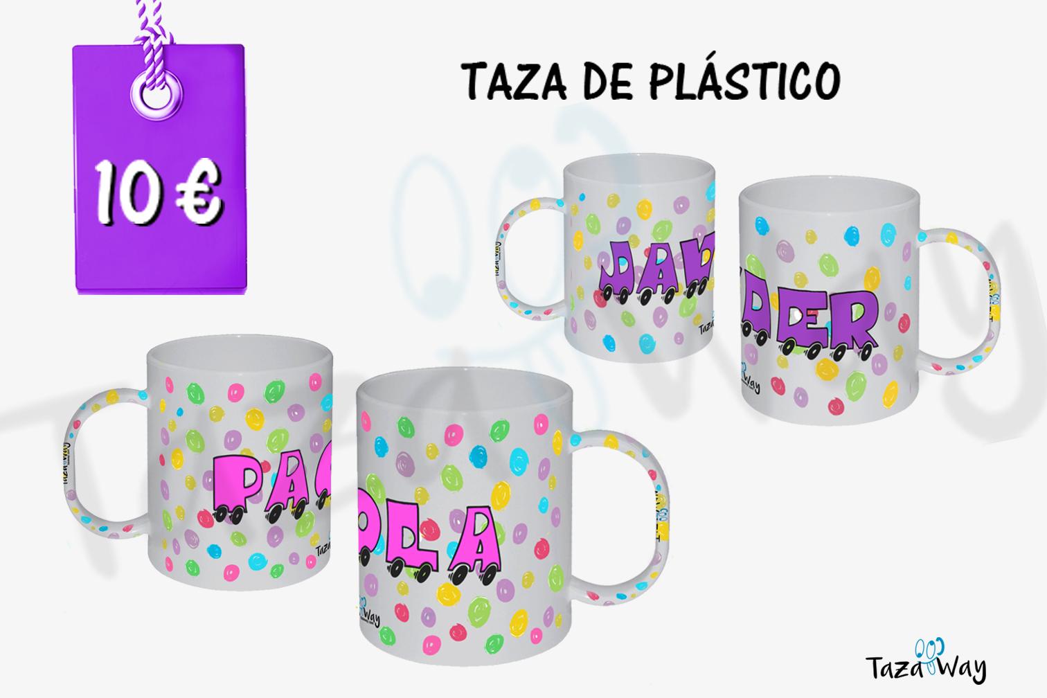 taza de plástico personalizadas