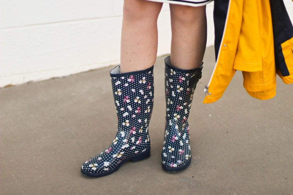 rain boots, target, yellow rain jacket